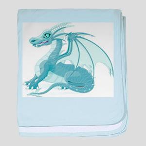 Blue Ice Dragon baby blanket