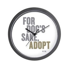 For Dog's Sake, Adopt Wall Clock