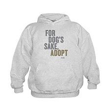For Dog's Sake, Adopt Kids Hoodie Sweatshirt