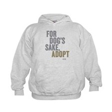 For Dog's Sake, Adopt Kids Hoodie Sweatshirt