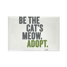 Be The Cat's Meow, Adopt Rectangle Magnet Magn