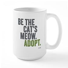 Be The Cat's Meow, Adopt Large Mug Mugs