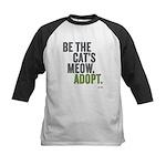 Be The Cat's Meow, Adopt Kids Baseball Jersey