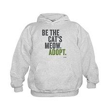 Be The Cat's Meow, Adopt Kids Hoodie Sweatshir