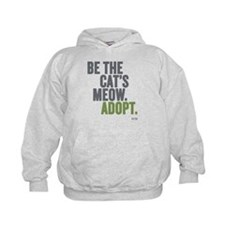 Be The Cat's Meow, Adopt Kids Hoodie Sweatshir