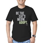Be The Cat's Meow, Adopt Men's Fitted T-Sh