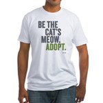 Be The Cat's Meow, Adopt Fitted T-Shirt