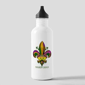 Masked Fleur de lis Stainless Water Bottle 1.0L