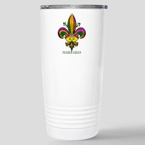 Masked Fleur de lis Stainless Steel Travel Mug