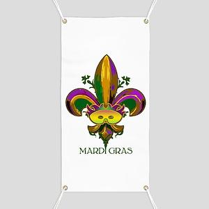Masked Fleur de lis Banner