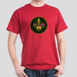 Masked Fleur de lis Dark T-Shirt