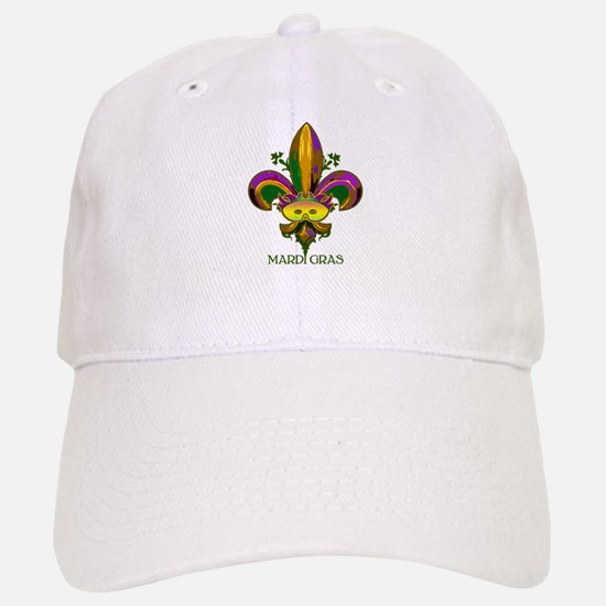 Masked Fleur de lis Baseball Baseball Cap