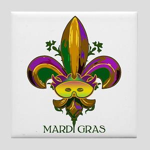 Masked Fleur de lis Tile Coaster