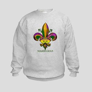 Masked Fleur de lis Kids Sweatshirt
