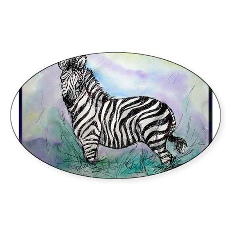 Zebra, beautiful, Oval Sticker