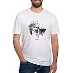 Fibonacci Bats Fitted T-Shirt