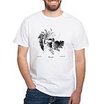 Fibonacci Bats White T-Shirt