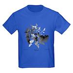 Fibonacci Bats Kids Dark T-Shirt