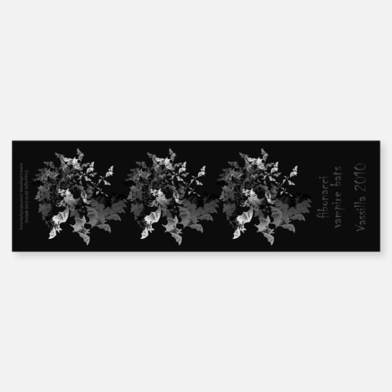 Fibonacci Bats Sticker (Bumper)