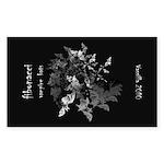 Fibonacci Bats Sticker (Rectangle)