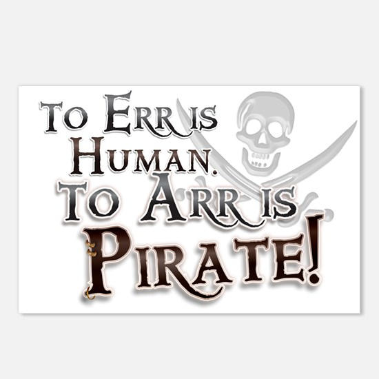 To Arr is Pirate! Funny Postcards (Package of 8)