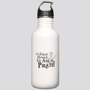 To Arr is Pirate! Funny Stainless Water Bottle 1.0