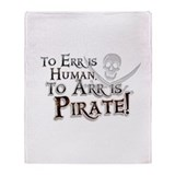 Cafepress throw to arr is pirate Fleece Blankets