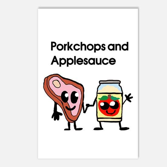 Pork Chop and Applesauce Postcards (Package of 8)