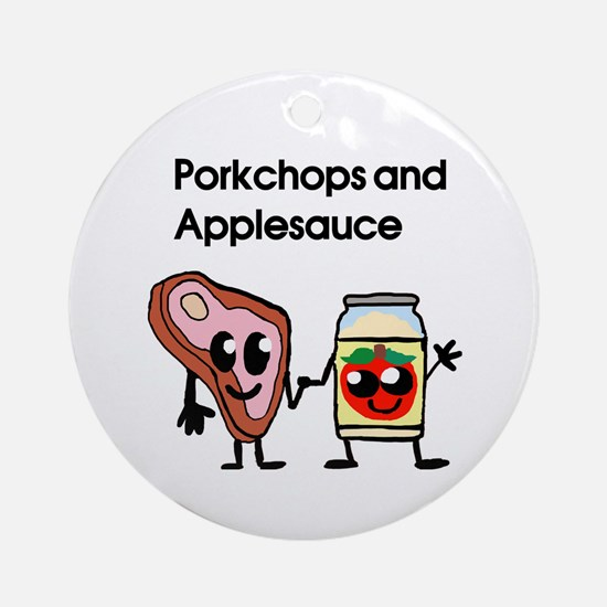 Pork Chop and Applesauce Ornament (Round)