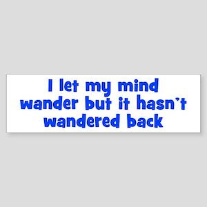 Wandering Mind Sticker (Bumper)