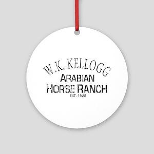 Arabian Horse Kellogg Ranch Ornament (Round)