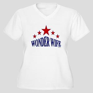 Wonder Wife Women's Plus Size V-Neck T-Shirt