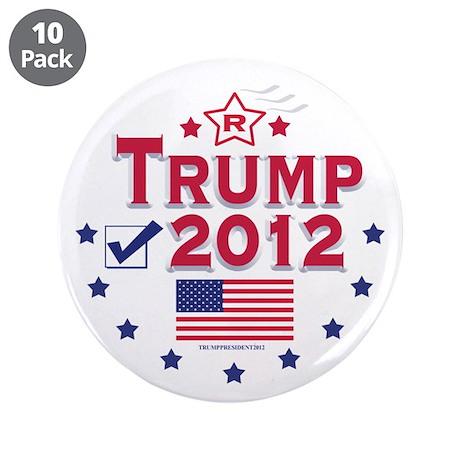 "Trump 2012 3.5"" Button (10 pack)"