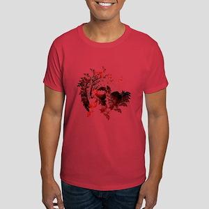 Fibonacci Bats Red Dark T-Shirt