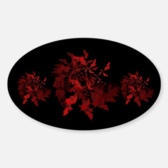 Fibonacci Bats Red Sticker (Oval)