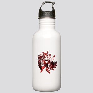 Fibonacci Bats Red Stainless Water Bottle 1.0L