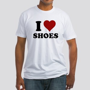 I heart shoes Fitted T-Shirt