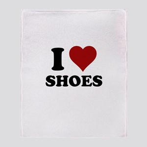 I heart shoes Throw Blanket
