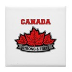 Canadian Pride STRONG & FREE Tile Coaster