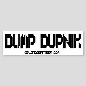 DUMP DUPNIK! Sticker (Bumper)