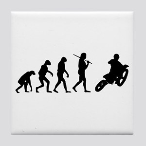 The Evolution Of Motorcross Tile Coaster