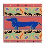 The Famous Blue Dachshund Art Tile Coaster