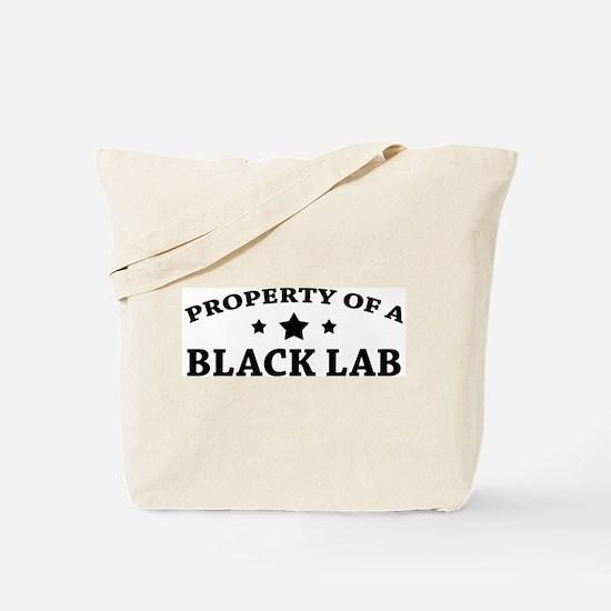 Property of a Black Lab Tote Bag