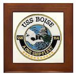USS BOISE Framed Tile