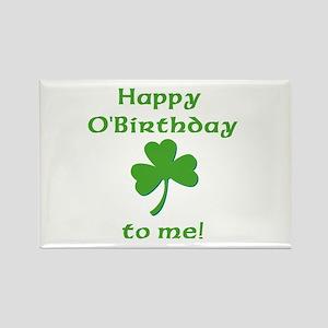 Happy O'Birthday!! Rectangle Magnet