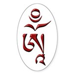 Tibetan Om Sticker (Oval 10 pk)