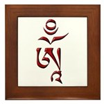 Tibetan Om Framed Tile