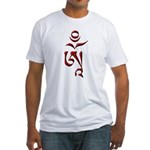 Tibetan Om Fitted T-Shirt