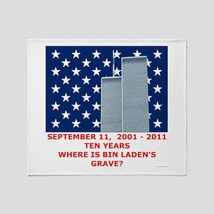 Where is Bin Laden's Grave 9 11 Throw Blanket