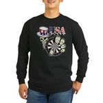 USA Darts Long Sleeve Dark T-Shirt
